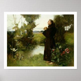 St Francis, 1898 (aceite en lona) Impresiones