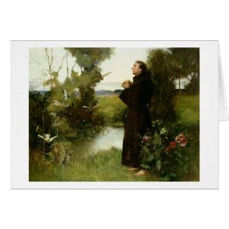 St Francis, 1898 (aceite en lona) Tarjeta