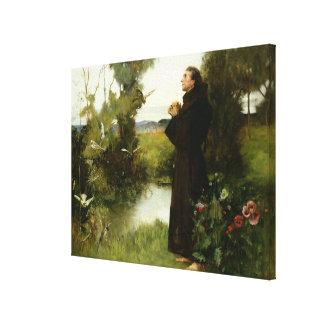 St. Francis, 1898 (oil on canvas) Canvas Print