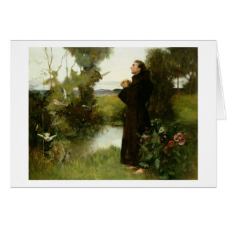 St. Francis, 1898 (oil on canvas) Card