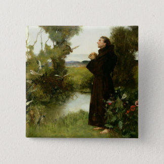 St. Francis, 1898 (oil on canvas) Pinback Button