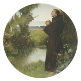 St. Francis, 1898 (oil on canvas) Dinner Plate