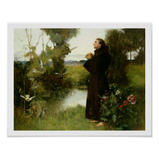 St. Francis, 1898 (oil on canvas) Poster