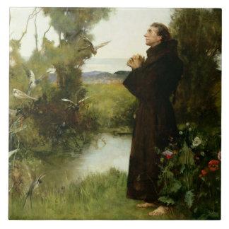St. Francis, 1898 (oil on canvas) Tile