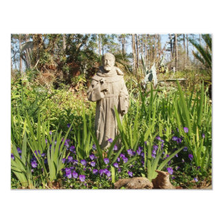 St. Francis Among Pansies Card