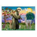 St Francis and Llama Baby Greeting Card