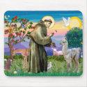 St Francis and Llama Baby Mouse Mats