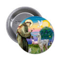 St Francis and Llama Baby Pinback Button