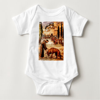St Francis and the Wolf Baby Bodysuit
