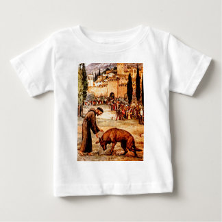 St Francis and the Wolf Baby T-Shirt