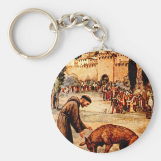 St Francis and the Wolf Keychain