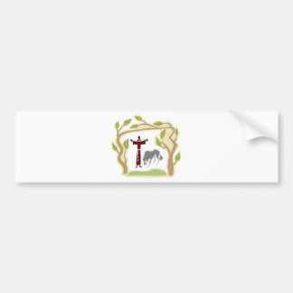 St. Francis and The Wolf tie, gift box, chain etc Car Bumper Sticker