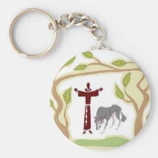 St. Francis and The Wolf tie, gift box, chain etc Keychain