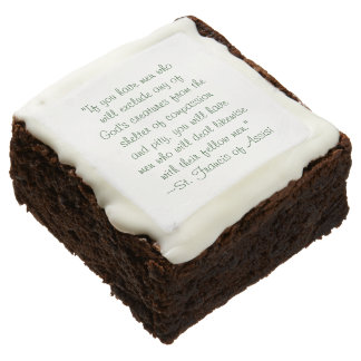 St. Francis Animal Compassion Quote Brownie