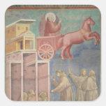 St Francis aparece a sus compañeros Calcomania Cuadradas Personalizadas