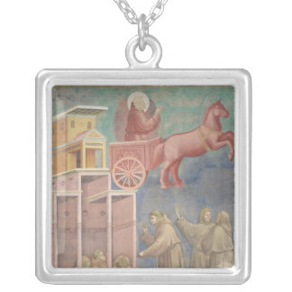 St. Francis Appears to His Companions Silver Plated Necklace