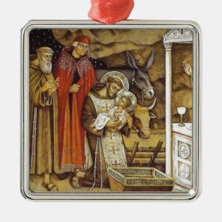 St Francis at the Nativity, mug key chain iPhone Ornament