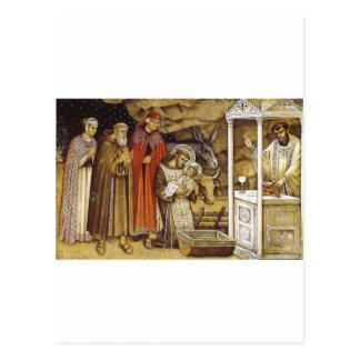 St Francis at the Nativity mug key chain iPhone Post Card