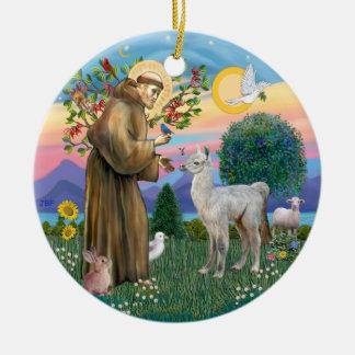 St Francis - Baby Llama Christmas Ornaments