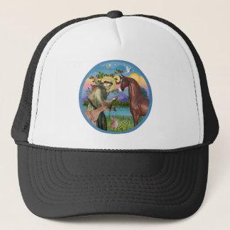 St Francis - Brown Arabian Horse Trucker Hat