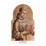 St. Francis By Carlo Crivelli Postcard