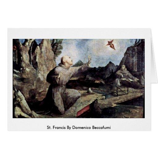 St. Francis By Domenico Beccafumi Cards