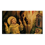 St.Francis by Gentile da Fabriano Double-Sided Standard Business Cards (Pack Of 100)