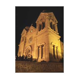 St. Francis Cathedral, Santa Fe, NM Wrapped Canvas Stretched Canvas Print