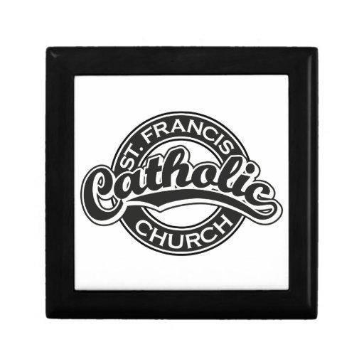 St. Francis Catholic Church Black Jewelry Box