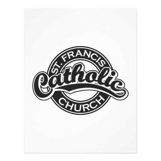 St. Francis Catholic Church Black Letterhead