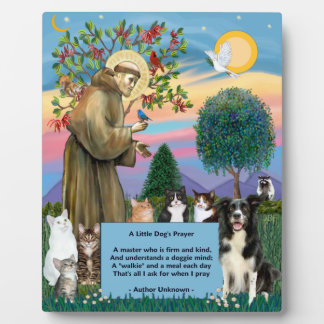 St Francis - Cats & Border Collie Plaque
