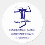 St Francis Classic Round Sticker