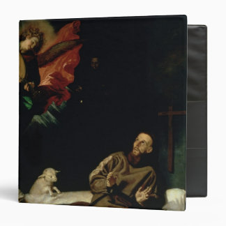 St. Francis comforted by an Angel Musician Binder