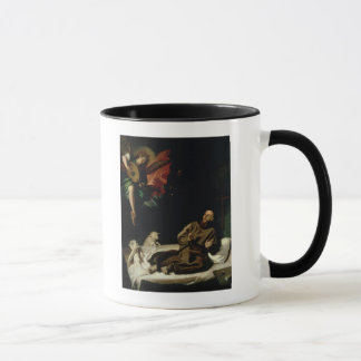 St. Francis comforted by an Angel Musician Mug