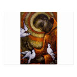 St Francis con las palomas, postal, taza, gorra, i