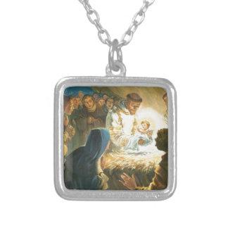 St Francis con natividad del regalo del navidad de Pendientes Personalizados