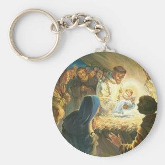 St Francis con natividad del regalo del navidad de Llaveros