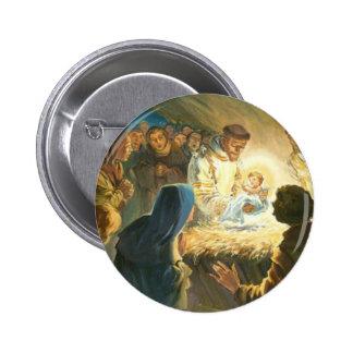 St Francis con natividad del regalo del navidad de Pin