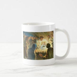 St Francis con natividad del regalo del navidad de Tazas De Café