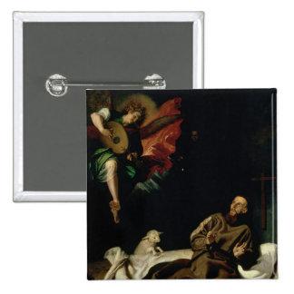 St Francis confortó por un músico del ángel Pins