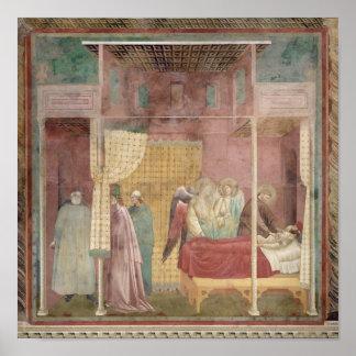 St Francis cura al hombre herido de Lerida Póster