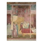 St Francis cura al hombre herido de Lerida Tarjeta Postal