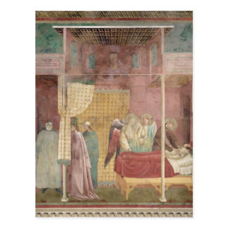 St Francis cura al hombre herido de Lerida Postal