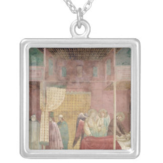 St. Francis Cures the Injured Man from Lerida Silver Plated Necklace