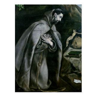 St Francis de Assisi, 1580-95 Tarjetas Postales