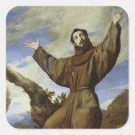 St Francis de Assisi 1642 Calcomanías Cuadradass Personalizadas