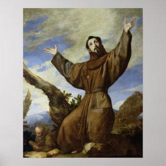 St Francis de Assisi 1642 Póster