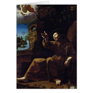 St Francis de Assisi consoló por un ángel Tarjeta De Felicitación
