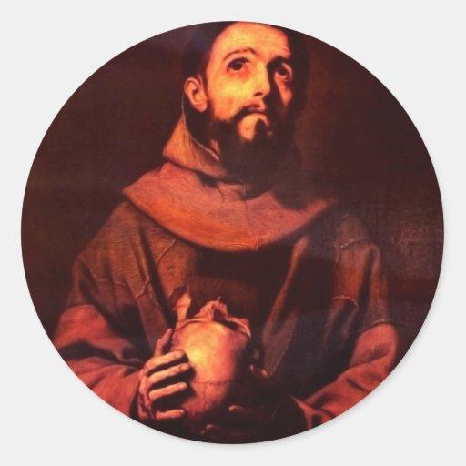 St Francis de Assisi de Ribera José De Pegatina Redonda