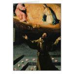 St Francis de Assisi, el milagro de los rosas Tarjeta De Felicitación